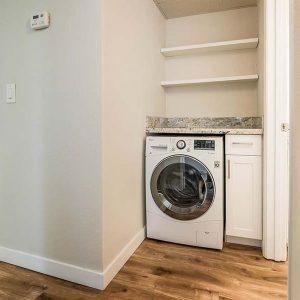 Model unit washing machine and counter