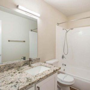 Model unit bathroom.